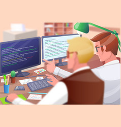 web developers poster vector image