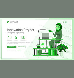 Website design template business project vector