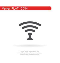 wi-fi icon for web business finance and vector image