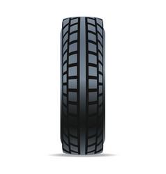 automobile rubber tire icon vector image vector image