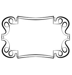 beautiful elegant framework for design vector image vector image