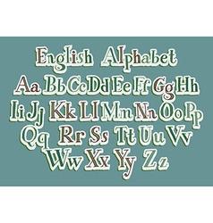 Hand cut alphabet vector image
