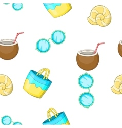 Sandy beach pattern cartoon style vector image vector image