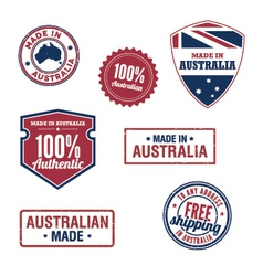 Australian stamps vector