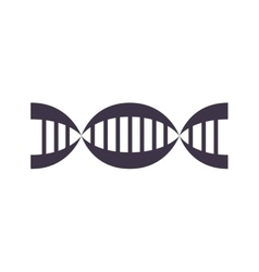 Chain genetics code silhouette with chromosome vector image