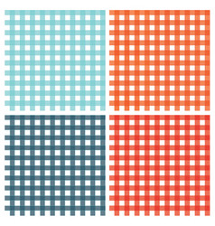 checkered pattern vintage plaid fabric texture vector image