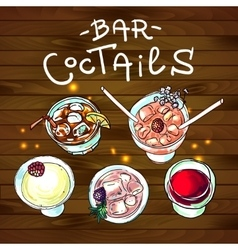 coctails bar top view vector image
