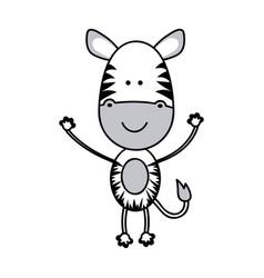color teddy zebra icon vector image