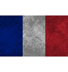 French flag grunge vector