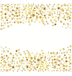 Gold stars Holiday background vector image vector image