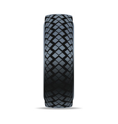 Modern machine tire icon vector