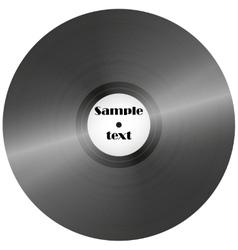 Vinyl record retro music disc background vector image