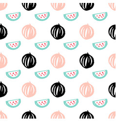 watermelon berry seamless pattern vector image vector image