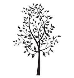 Black tree stzliyed silhouette vector image