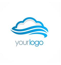 cloud storage logo vector image