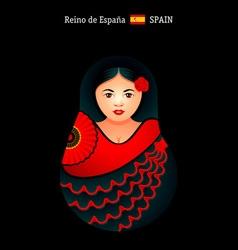 Matryoshka Spain vector image vector image
