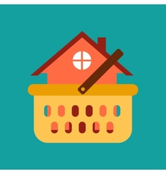 Mortgage buying a property vector image