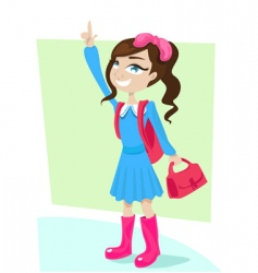 school girl vector image vector image