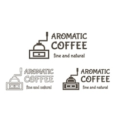 Set of Coffee mill Elements and Cafe vector image vector image