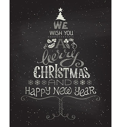 Vintage Christmas background with hand-written vector image