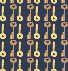 Adorable Love Keys seamless pattern vector image
