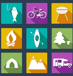 CampingIcons5 vector image vector image