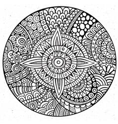 Decorative hand drawn circle vector