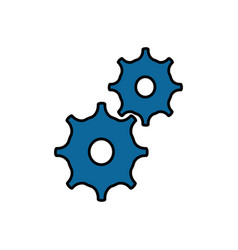 gears machinery pieces vector image vector image