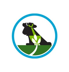 Organic Farmer Shovel Plant Circle vector image