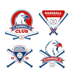 Retro baseball sports badges for boys vector