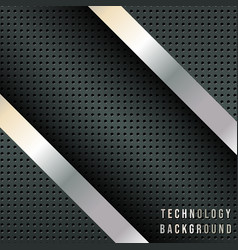 Abstract background with metallic diagonal stripes vector