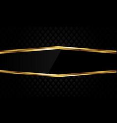 Abstract gold line hexagon black dark diamond vector