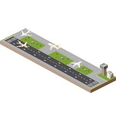 Airport runway vector image