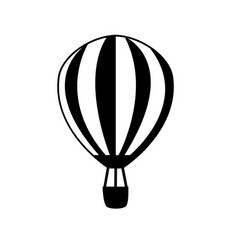 airship front view icon isolated on white vector image