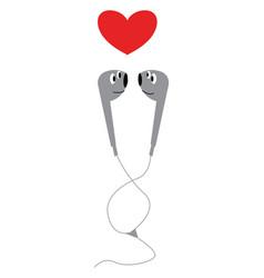 An image of earphones or color vector