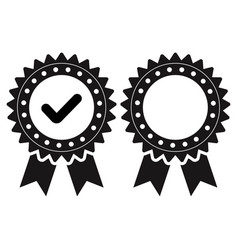 Approval check icon for apps or websites vector