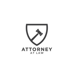 attorney at law logo template vector image