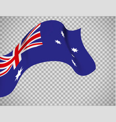 australia flag on transparent background vector image