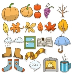 Autumn design elements vector