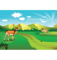 background deer vector image