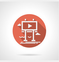 billboard for promo video red round icon vector image