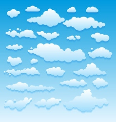 Blue sky with clouds nature vector image