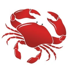 Boiled red crab shellfish vector