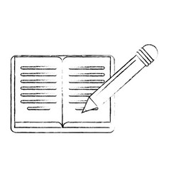book knowledge learning think sketch vector image