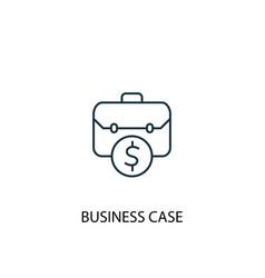 Business case concept line icon simple element vector