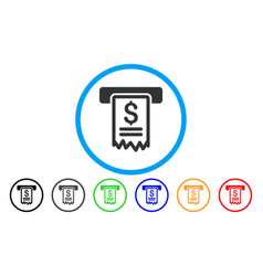 Cheque payment rounded icon vector
