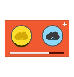 Cloud download and upload 26 vector image