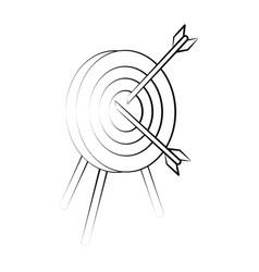 Darts on bullseye icon image vector