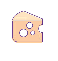 Delicious cheese food with nutrients vector