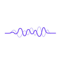 design of music wave sound pulse audio vector image